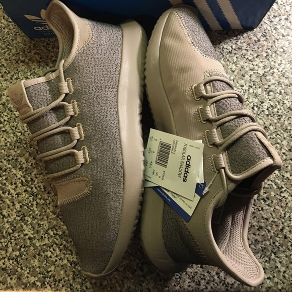 buy online ebce3 8707d Adidas Originals Tubular Shadow Trainers In Beige. NWT